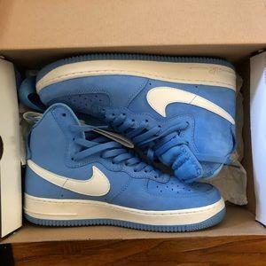 Nike high top Air force 1's Carolina Blue